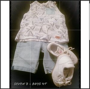 Seven 7 for all mankind- Boys 4T set